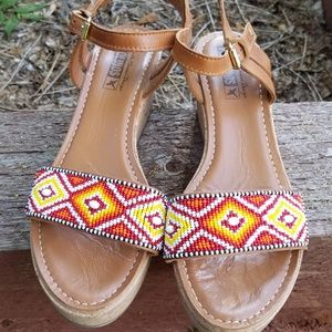 pikilinos beaded sandals